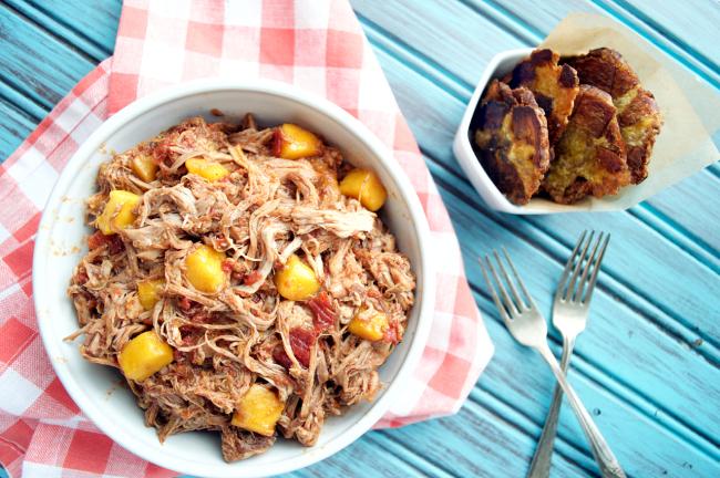 Crockpot Tropical Mango Pork | Plaid and Paleo