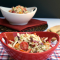 Mayo-free BLT Coleslaw | Plaid and Paleo