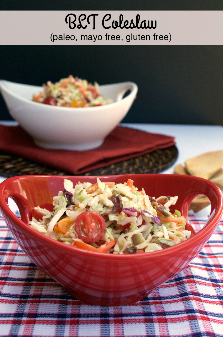 Mayo-free BLT Coleslaw