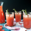 Rosemary Watermelon Lemonade | Plaid and Paleo
