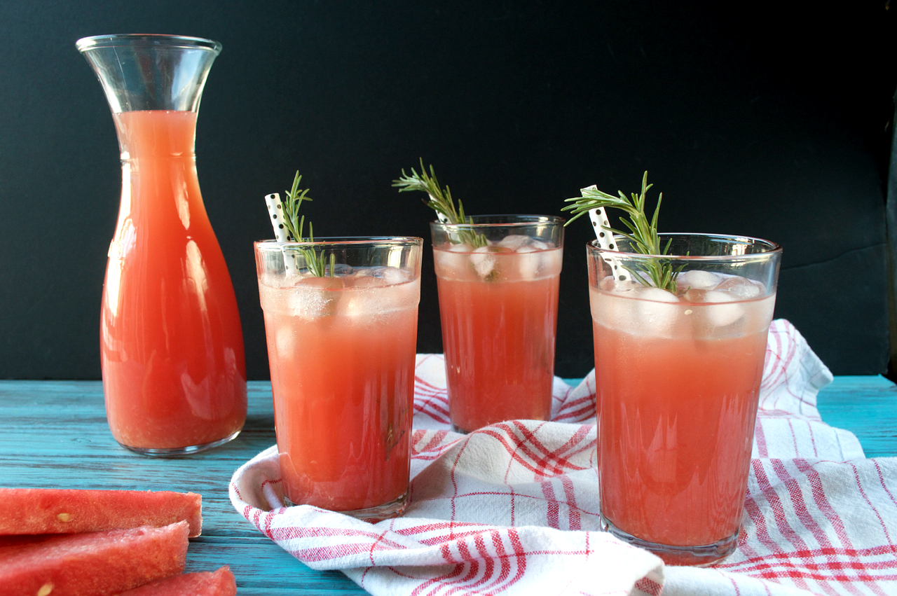 Rosemary Watermelon Lemonade