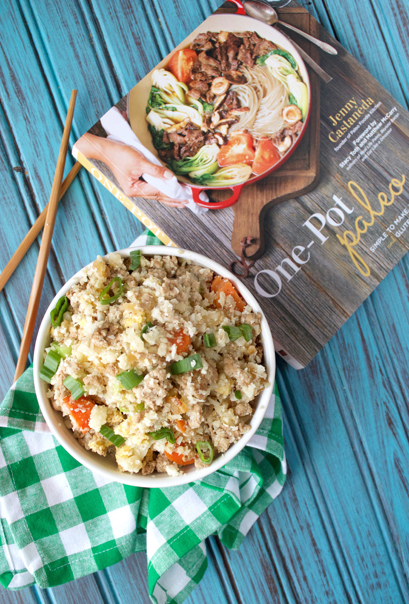 One-Pot Paleo Cauliflower Pork Fried Rice