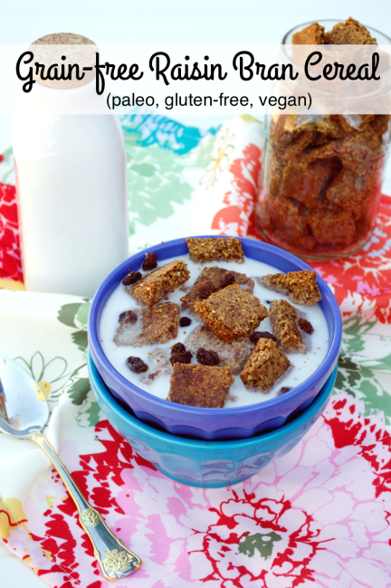 Grain-free Raisin Bran Cereal | Plaid and Paleo