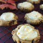 Paleo, Vegan Pumpkin Cookies with Orange Glaze | Plaid and Paleo