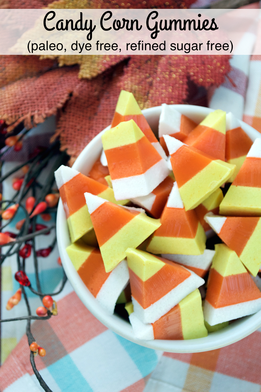 Paleo Candy Corn Gummies | Plaid & Paleo