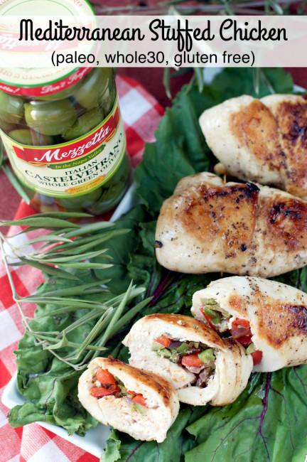 Mediterranean Stuffed Chicken by Plaid and Paleo