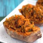 Mexican Stuffed Sweet Potatoes | Plaid and Paleo