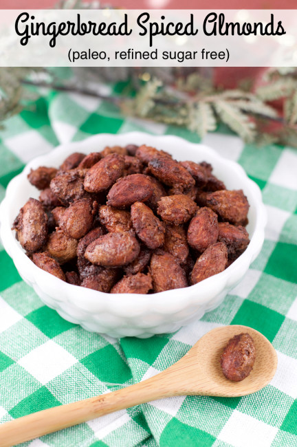 Paleo Gingerbread Spiced Almonds | Plaid and Paleo