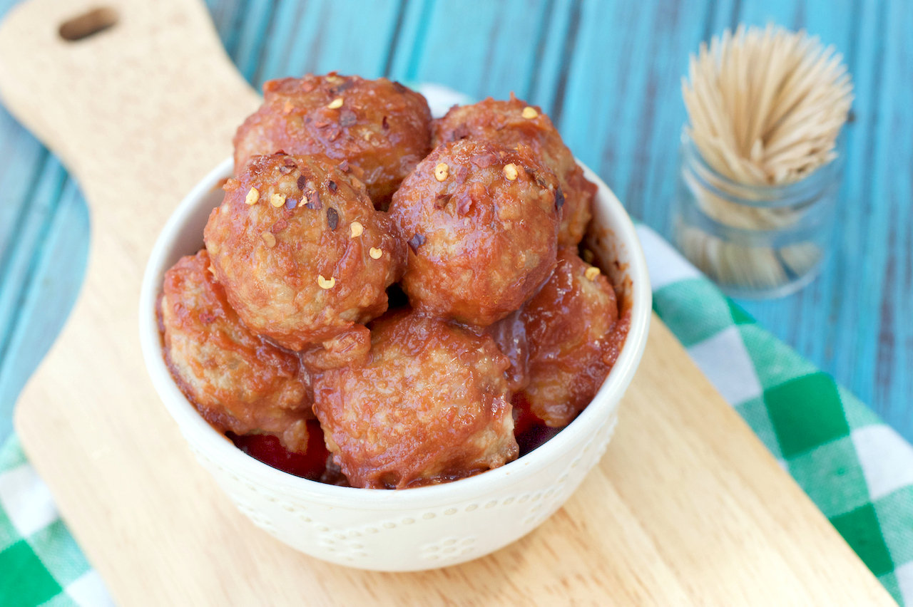 Paleo Maple Pork Meatballs | Plaid & Paleo