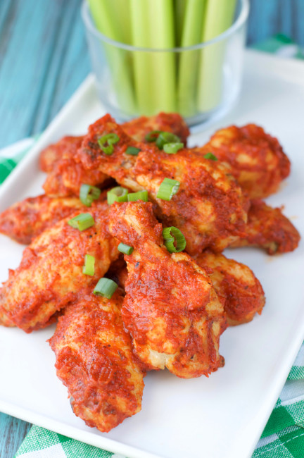 Paleo Spicy Pepper Wings | Plaid and Paleo