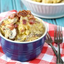 Paleo Bacon Chicken Pasta | Plaid and Paleo