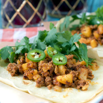 Paleo Chorizo and Potato Tacos | Plaid and Paleo