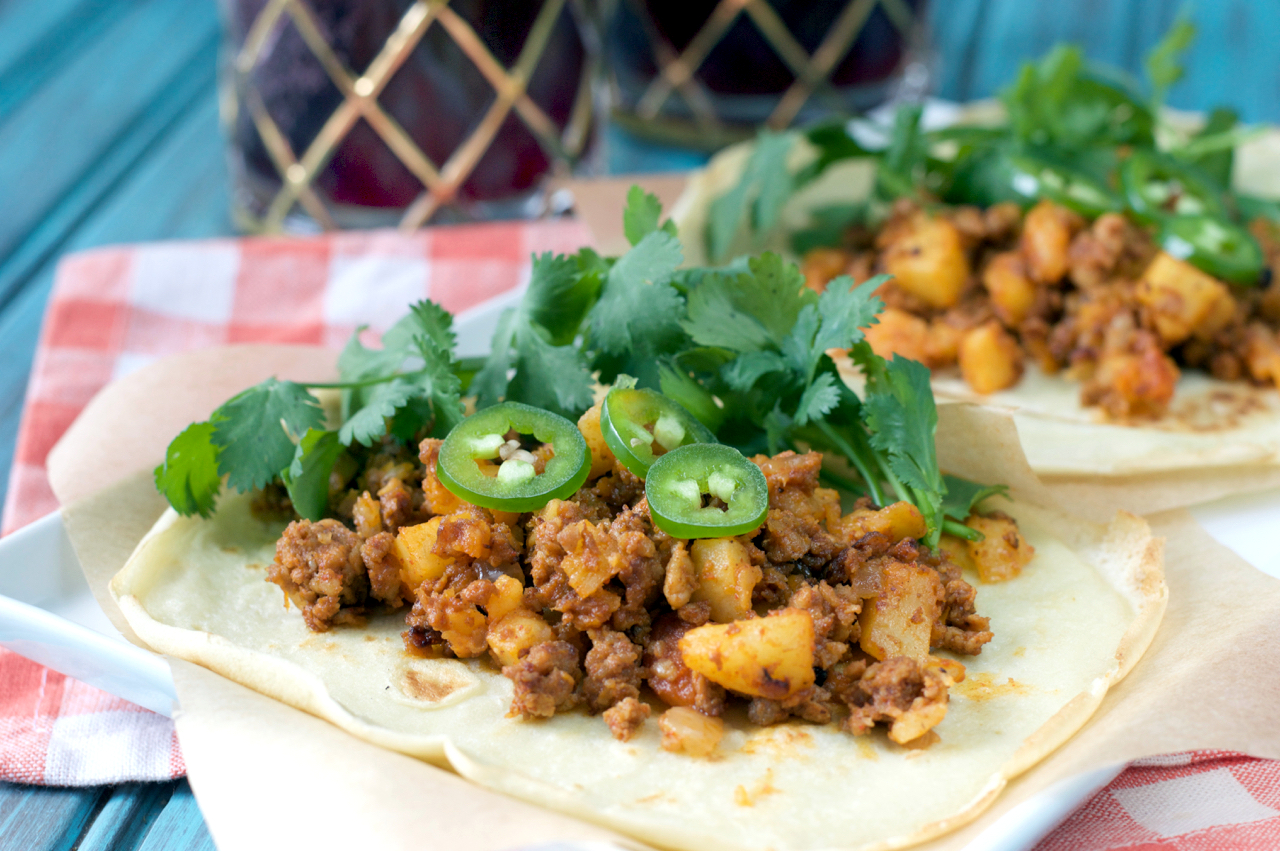 Paleo Chorizo and Potato Tacos | Plaid and Paleo