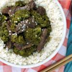 Paleo Crockpot Beef and Broccoli | Plaid and Paleo