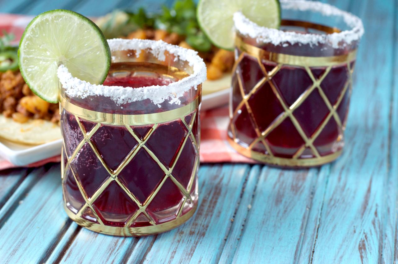 Hibiscus Coconut Margarita | Plaid and Paleo