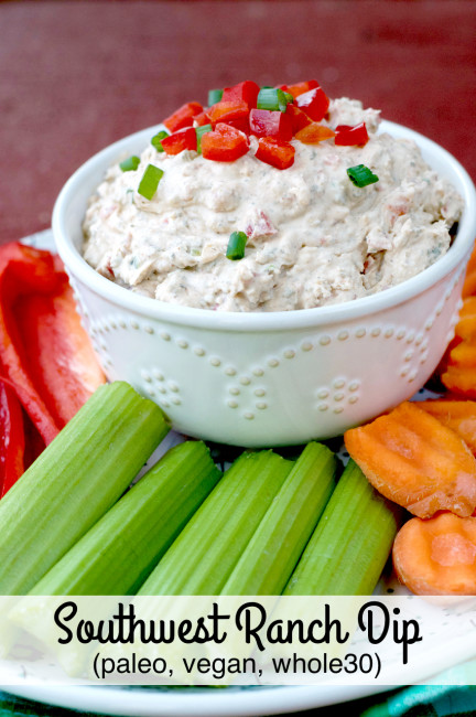 Paleo Southwest Ranch Dip | Plaid and Pale