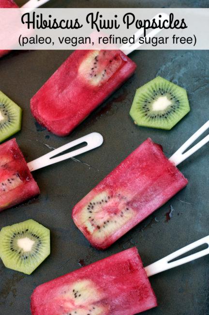 Paleo Hibiscus Kiwi Popsicles | Plaid and Paleo