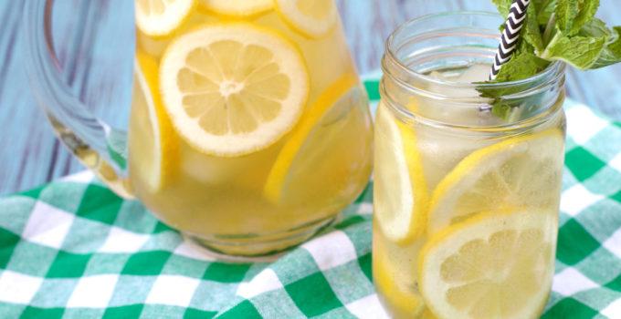 Sparkling Lemon Iced Green Tea