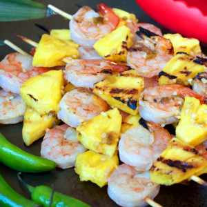 Paleo Chile Pineapple Shrimp Kabobs