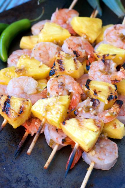 30+ Paleo Kabobs | Chile Pineapple Shrimp Kabobs