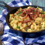 Fed & Fit's Loaded Cauliflower Mac & Cheese | Plaid and Paleo