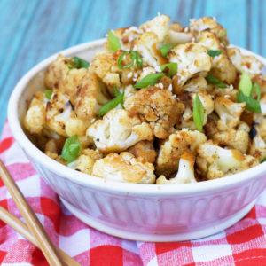 Vegan and Paleo General Tso's Cauliflower | Plaid and Paleo