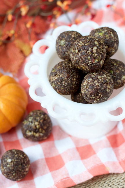Double Chocolate Pumpkin Seed Power Balls Plaid Amp Paleo