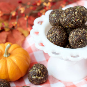 Double Chocolate Pumpkin Seed Power Balls