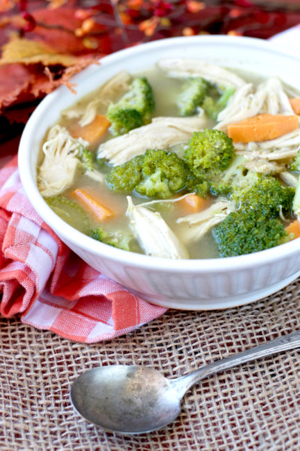 Turkey, Sweet Potato and Broccoli Soup | Plaid and Paleo