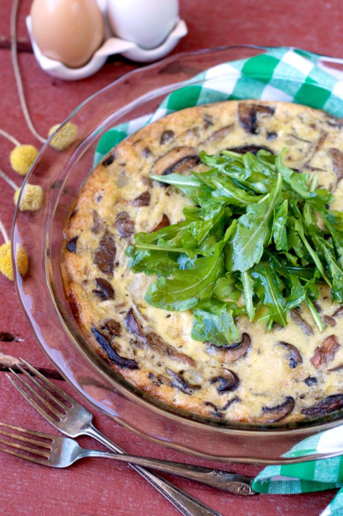 Vegetarian Mushroom Breakfast Casserole | Plaid and Paleo