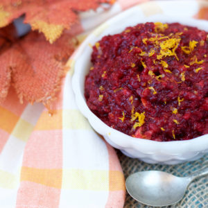 Raw Orange-Cranberry Relish