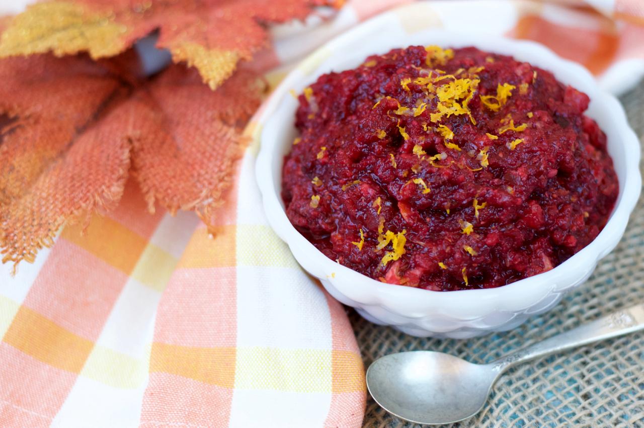 Raw Orange-Cranberry Relish | Plaid and Paleo