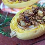 Sausage and Fennel Spaghetti Squash Pasta | Plaid and Paleo