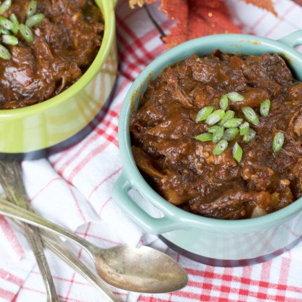 Paleo Slow Cooker Short Rib Chili | Plaid and Paleo
