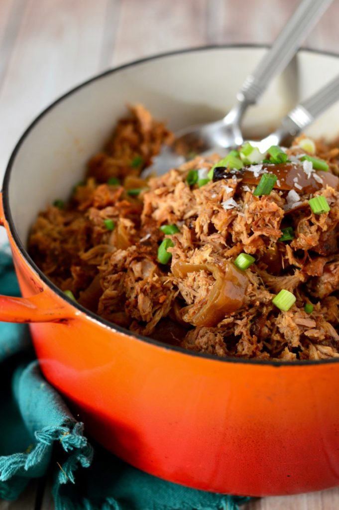 50+ Whole30 Slow Cooker Dinner Recipes - Smokey Pulled Pork | Plaid & Paleo