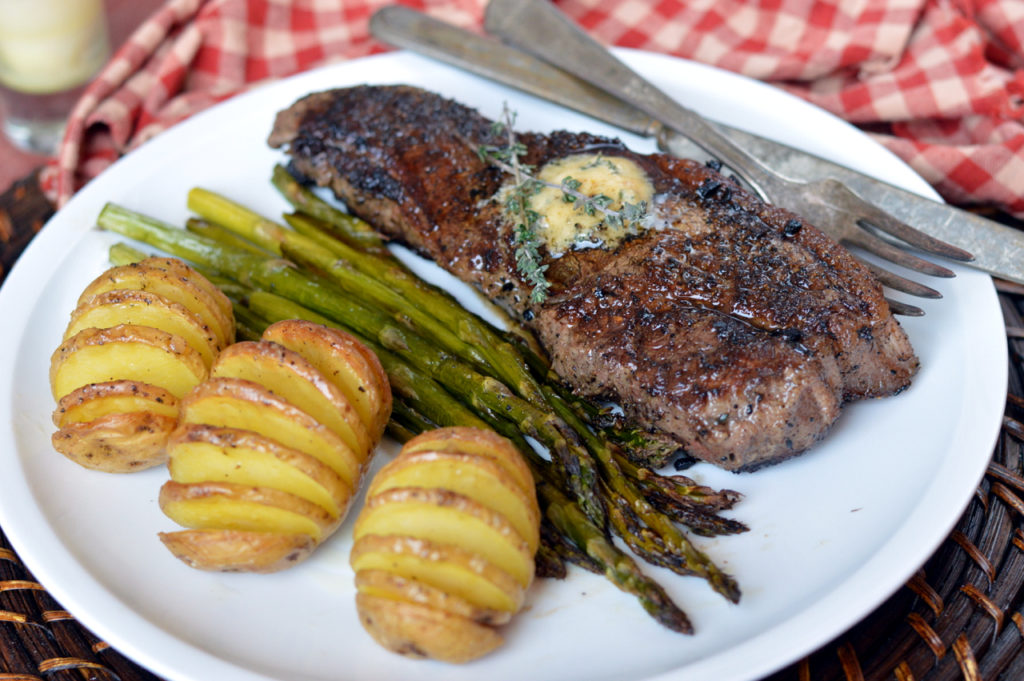 Cast Iron Steak with Herb Butter | Plaid & Paleo