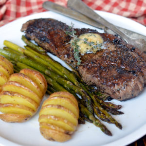 Cast Iron Steak with Herb Butter