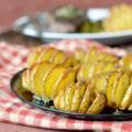Mini Hasselback Potatoes with Herb Butter | Plaid and Paleo