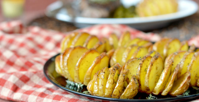 Mini Hasselback Potatoes with Herb Butter