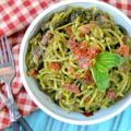 Paleo Creamy Pesto Pasta | Plaid and Paleo