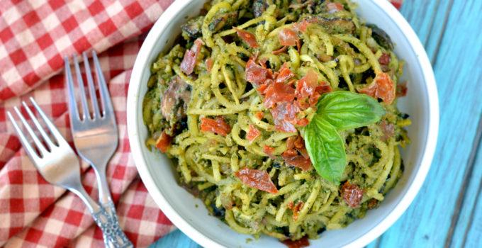 Paleo Creamy Pesto Pasta