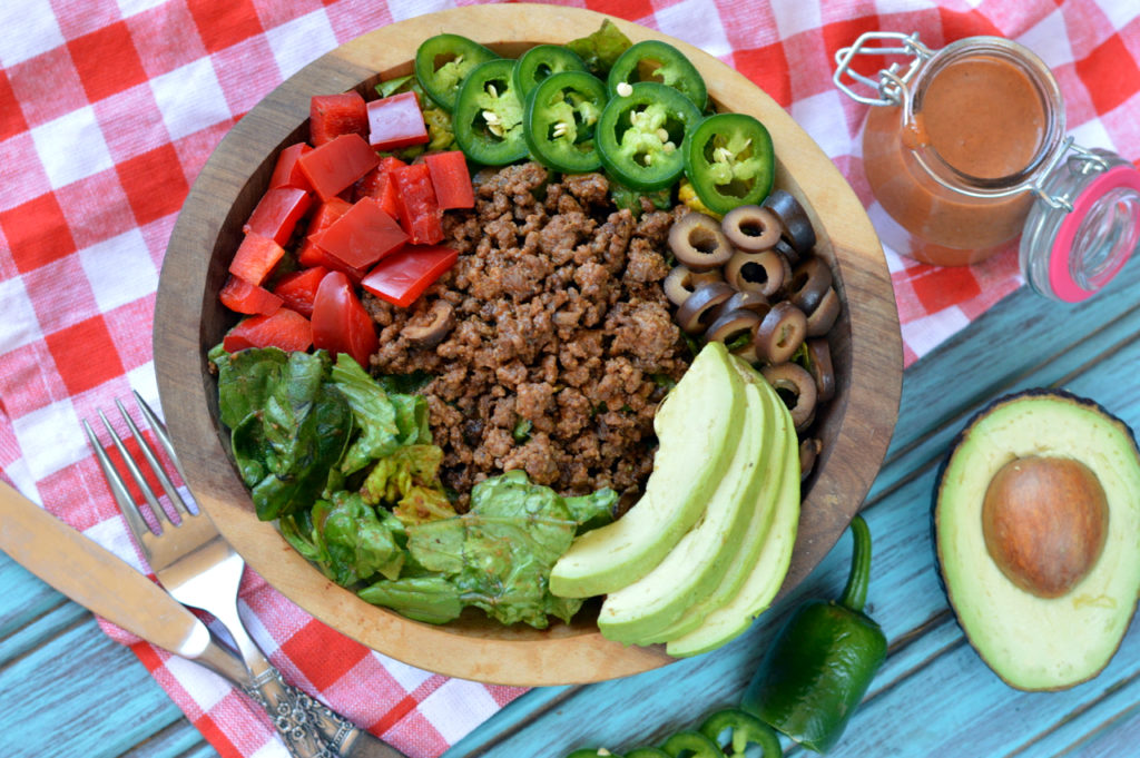 Paleo Mexican Salad | Plaid and Paleo