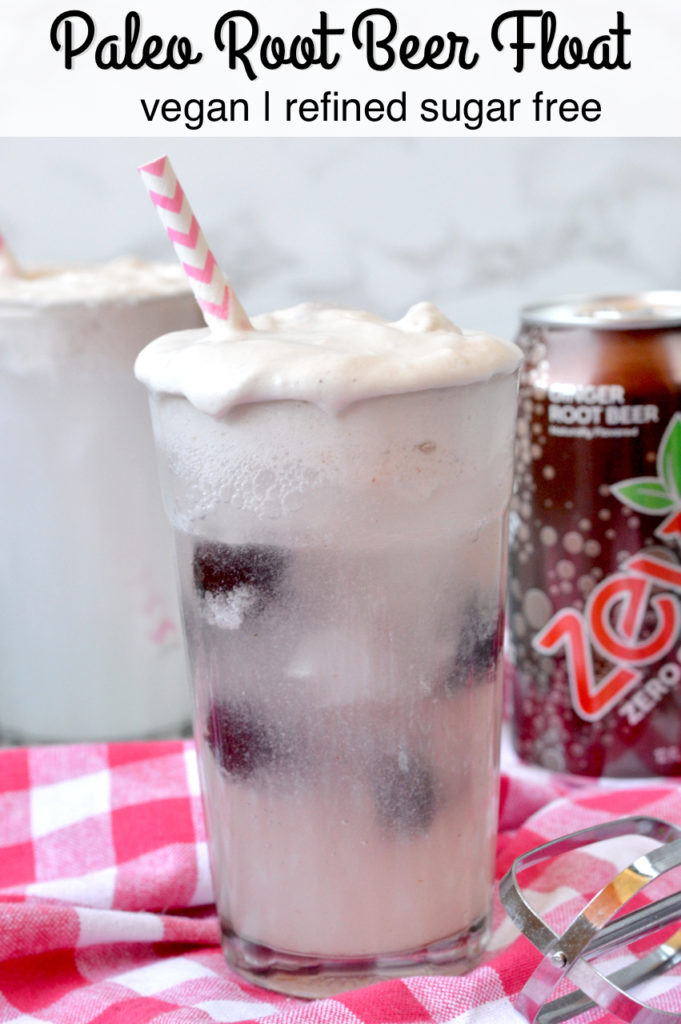Paleo Root Beer Float | Plaid and Paleo