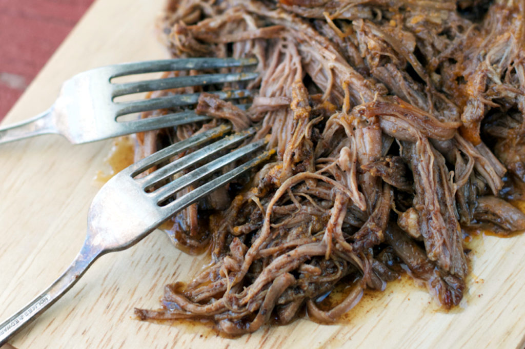 Slow Cooker Sweet & Spicy Beef | Plaid and Paleo