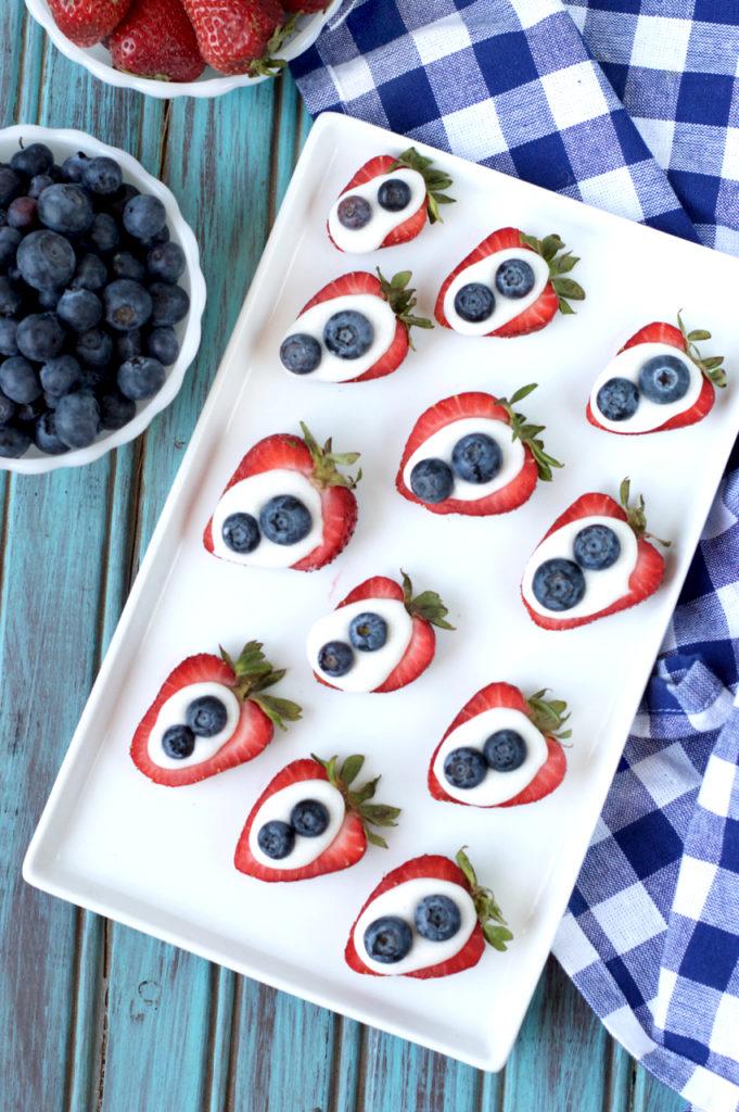 Paleo Strawberry Bites with Vanilla Cream | Plaid and Paleo