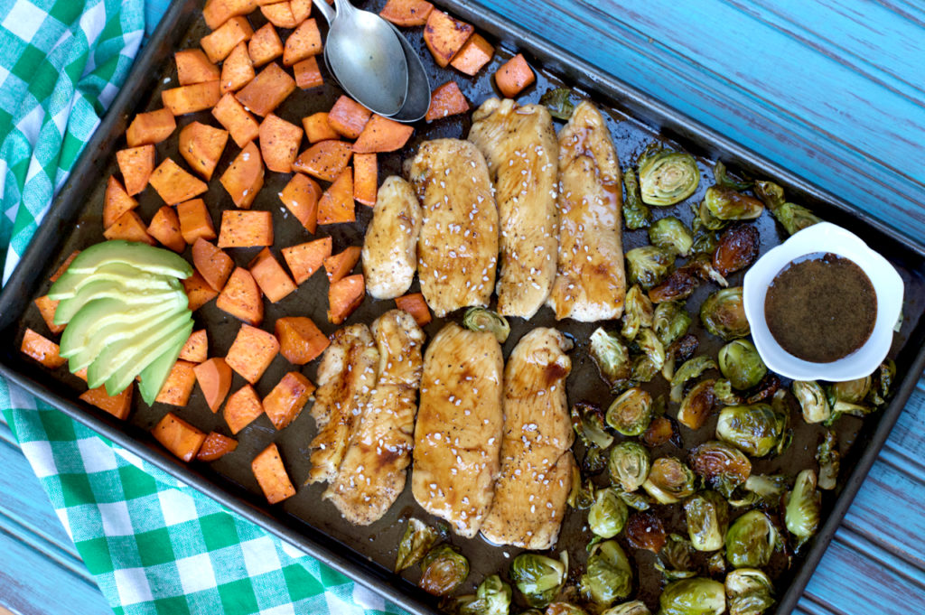 Sheet Pan Paleo Teriyaki Chicken and Vegetables | Plaid and Paleo