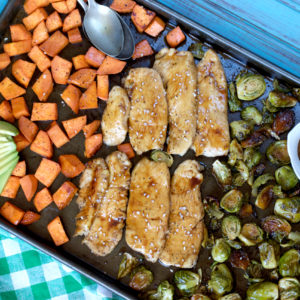 Sheet Pan Paleo Teriyaki Chicken and Vegetables