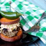 Paleo Jalapeño Ranch Burgers with Spicy Slaw | Plaid and Paleo