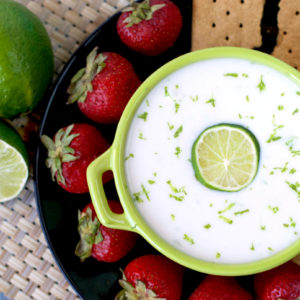 Vegan Key Lime Pie Dip | Plaid and Paleo