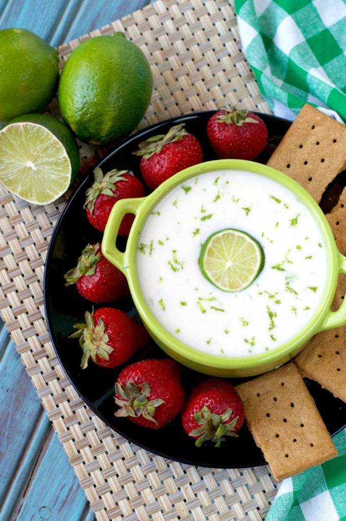 Vegan Key Lime Pie Dip | Plaid and Paleo